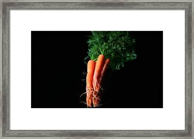 Carrots Framed Print by Michael Ledray
