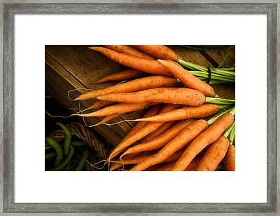 Carrots Framed Print by Tanya Harrison