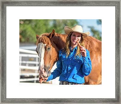 Carrots,cowgirls And Horses  Framed Print