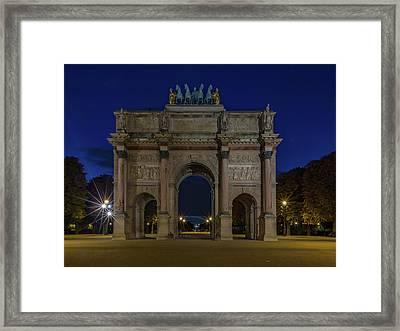 Carrousel Arc De Triomphe Framed Print