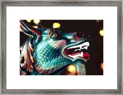 Carrousel Dragon Horse Framed Print