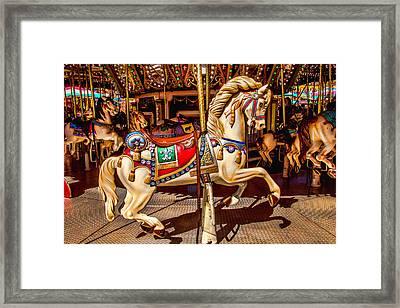Carrousel Horse Ride Framed Print
