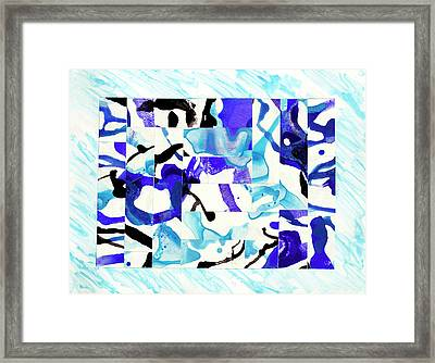 Carry Me On The Waves To The Lands I've Never Seen Framed Print by Rahdne Zola