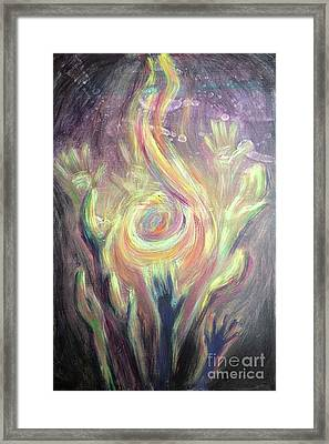 Carry The Fire Framed Print