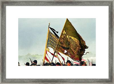 Carrying Their Colors Framed Print by Linda Allasia