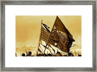 Carrying Their Colors - Sepia Framed Print by Linda Allasia