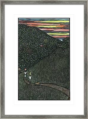Carrying Water Framed Print by Ricardo Levins Morales