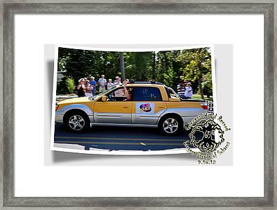 Cars Crossing 105 Framed Print