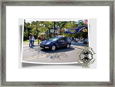 Cars Crossing 114 Framed Print