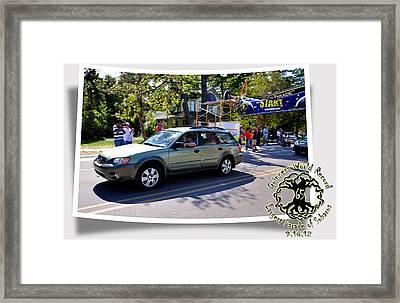 Cars Crossing 127 Framed Print