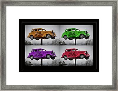 Cars Framed Print by Joan Carroll