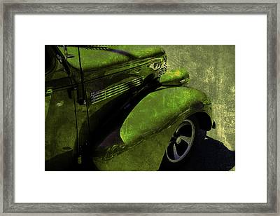Cars Master Deluxe Pavement Green Framed Print