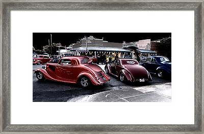 Cars On The Strip Framed Print