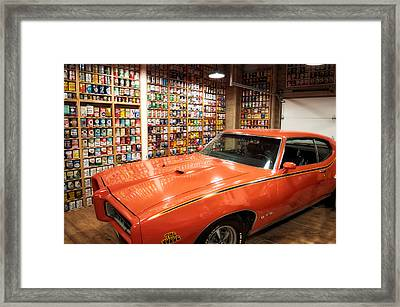 Cars Pontiac Gto The Judge Framed Print by Thomas Woolworth