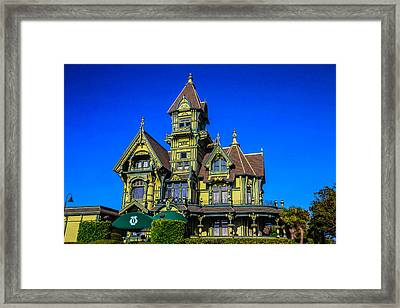 Carson Mansion Framed Print
