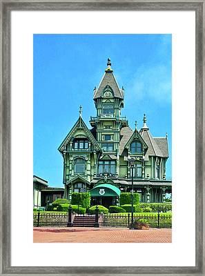Carson Mansion In Eureka Framed Print