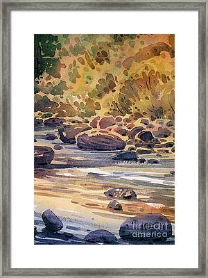 Carson River In Autumn Framed Print by Donald Maier