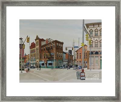 Carson Street Southside Pittsburgh Framed Print by Robert Bowden