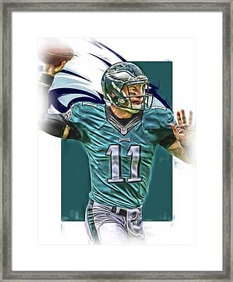 Carson Wentz Philadelphia Eagles Oil Art Framed Print