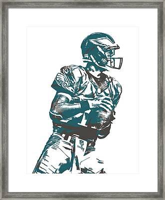 Carson Wentz Philadelphia Eagles Pixel Art 7 Framed Print