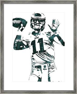 Carson Wentz Philadelphia Eagles Pixel Art Framed Print
