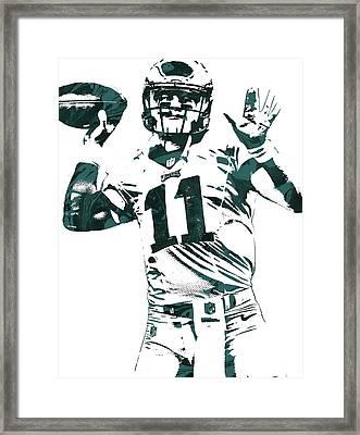 Carson Wentz Philadelphia Eagles Pixel Art Framed Print