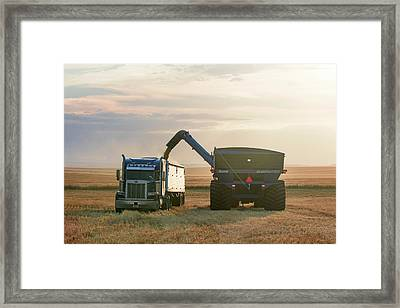 Cart Into Truck Framed Print