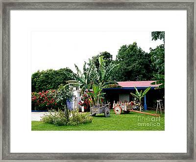 Cart Maker's Shop - Costa Rico Framed Print