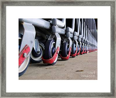 Cart Wheels Framed Print