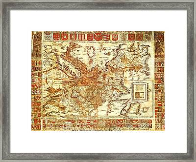 Carta Itineraria Europae Framed Print by Pg Reproductions