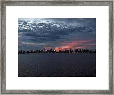 Cartagena Colombia At Sunset Framed Print by Janet  Hall