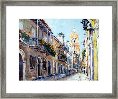 Cartagena Colombia Framed Print