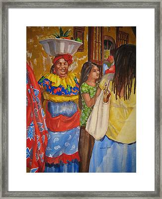 Cartagena Mall Framed Print