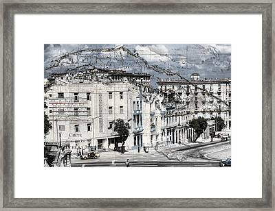 Carte Isle De Cuba Framed Print