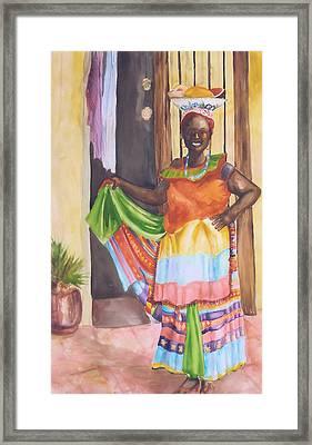 Cartegena Woman Framed Print