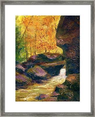 Carter Caves Kentucky Framed Print by Gail Kirtz