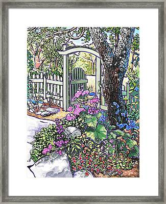 Framed Print featuring the painting Carter Garden by Nadi Spencer