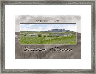 Framed Print featuring the digital art Carter's Pond by Susan Kinney