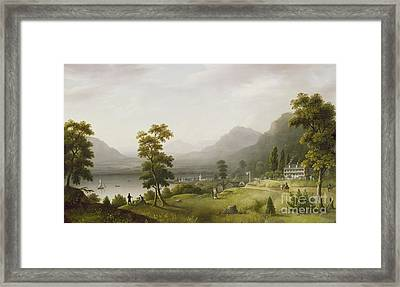 Carter's Tavern At The Head Of Lake George Framed Print by Francis Guy