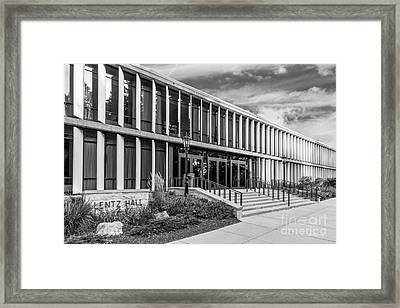 Carthage College Lentz Hall Framed Print by University Icons