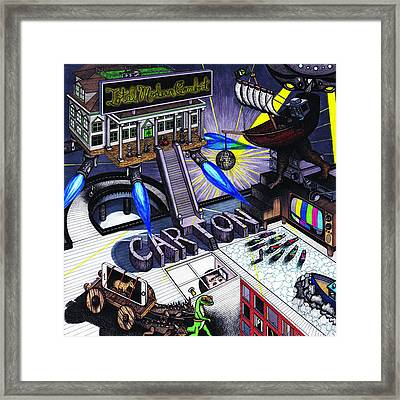 Carton Album Cover Artwork Front Framed Print by Richie Montgomery