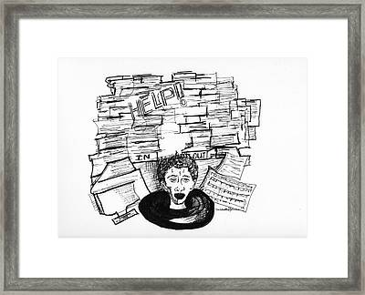 Cartoon Inbox Framed Print