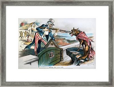 Cartoon: Panic Of 1893 Framed Print by Granger