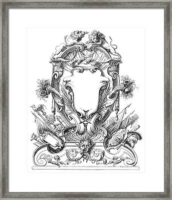 Cartouches, 18th Century Framed Print by Granger