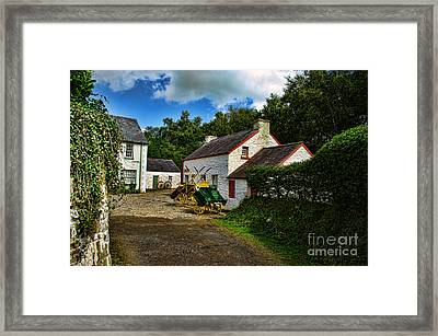 Cartwheel Cottages Framed Print by Kim Shatwell-Irishphotographer
