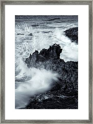 Carved By The Sea Framed Print