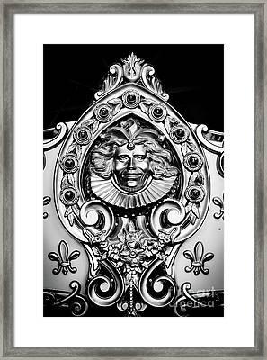 Carved Carousel Figurehead Framed Print by Colleen Kammerer