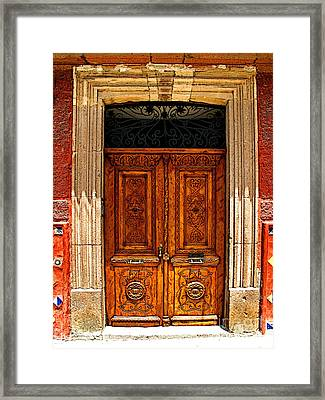 Carved Doors Framed Print by Mexicolors Art Photography