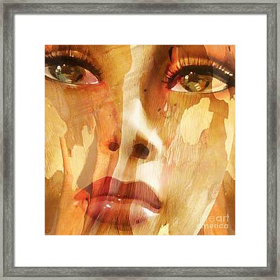 Carved Emotions Framed Print by Jacky Gerritsen
