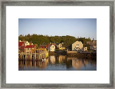 Carvers Harbor At Sunset, Vinahaven, Maine Framed Print
